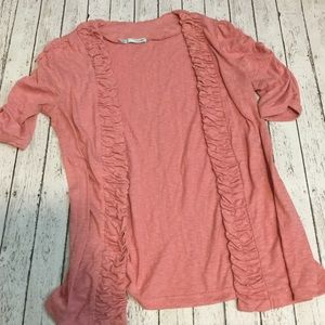 Maurice's dusty rose / pink cardigan